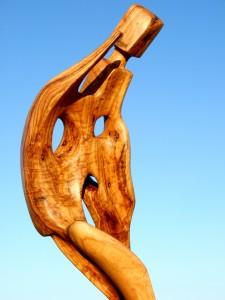 Escultura de Daniel Ventura en Formentera